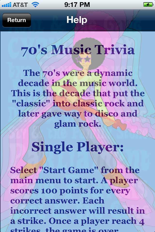 Screenshot 70's Music Trivia